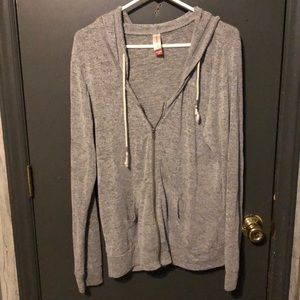 Jackets & Coats - Grey zip up hoodie